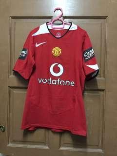 Original Manchester United 2005/2006 Home Kitt Jersey