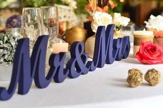 Customize standee letters