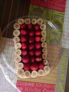 Nutella banana strawberry