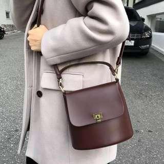 🚚 Burgundy Bucket Bag