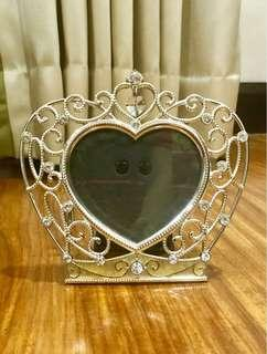 Bejeweled Crystalized Heart-Shaped Picture Frame