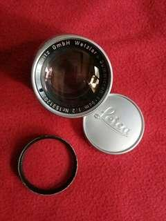 Lensa leitz leica summicron 50mm f2 rigid leica m mount