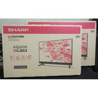 "Sharp 40"" Full HD LED TV USB MOVIE (set baru 2 tahun waranti kilang)"