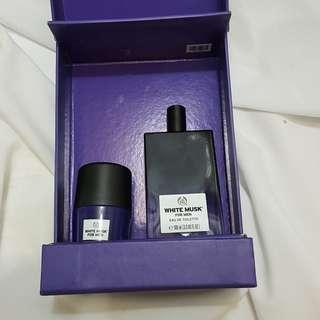 GIFT MEDIUM WHITE MUSK FOR MEN EDT eau de toilette dan Deodoran The body shop
