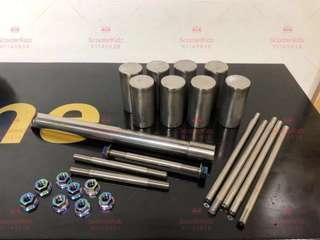 Titanium Stem Rod, Shaft, Foot Peg, Frame for Fiido/DYU/Tempo