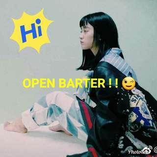 Open barter 💞