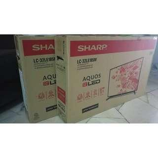 "sharp 32"" hd ready usb movie led tv (new set, 2 years warranty)"