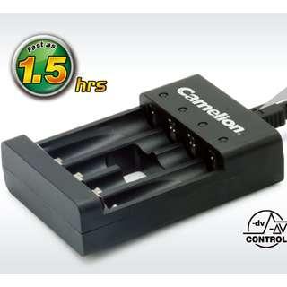 Camelion BC-0807F USB 1-4位 獨立 快速 充電器 AA aaa