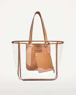 ‼️ REPRICED Zara Transparent Tote Bag