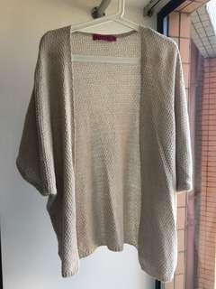 英國品牌Boohoo慵懶針織外套 Beige cardigan