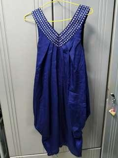 Blue Bubble Dress #MFEB20