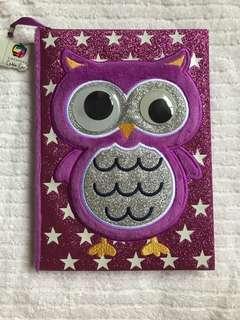 🚚 3D owl notebook
