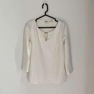 Calvin Klein blouse putih white