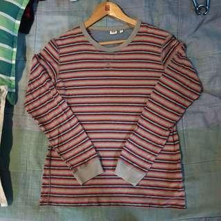 Uniqlo striped long sleeves shirt