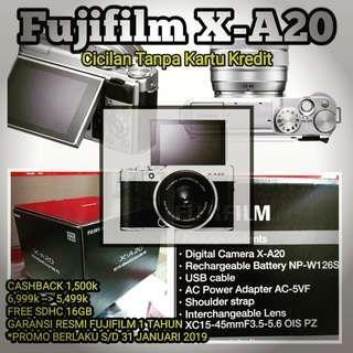Cicilan kamera Fujifilm X-A20, Tanpa CC
