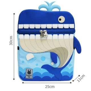 🚚 Kid Backpack bag for Kid love - Blue whale