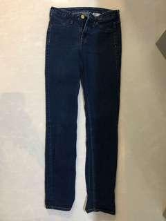 h&m navy blue denim skinny jeans