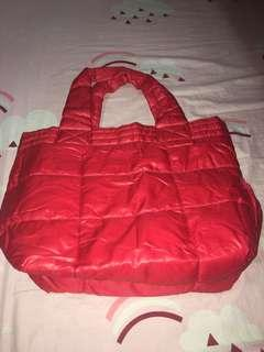 bath and body red tote bag