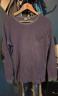 Uniqlo long sleeves shirt (dark blue)