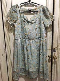 Baby Blue Floral Dress