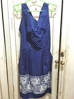 Royal Blue Polka Dot Dress