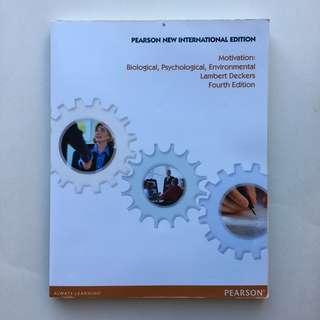 Motivation: Biological, Psychological, Environmental