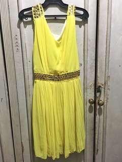 Yellow Formal Short Dress