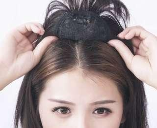 BRAND NEW IN PACKAGE Natural Brownish-Black Clip-on Hair Topper
