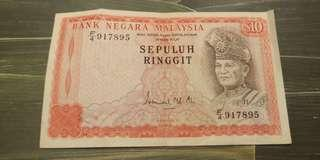 Malaysia RM10 Old Note Ten Dollar