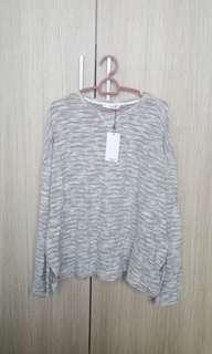new mango grey sweater