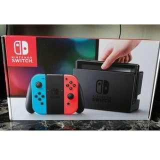 Nintendo Switch Neon US Set New