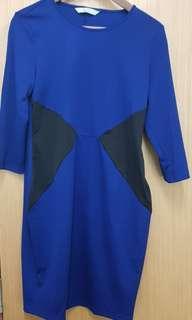 Blue dress(strechable)