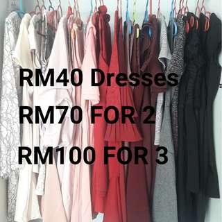 RM40 Dresses (Doublewoot, MGP, Miss Selfridge etc)