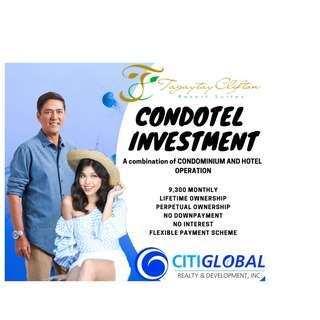 Pre selling and Income generating condotel investment