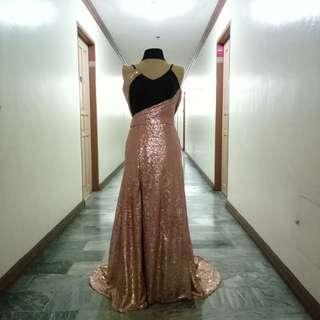 New Ombre old rose gown for rent