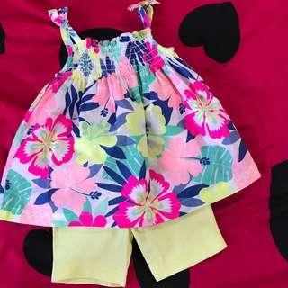 BNWOT Carters colourful Top set (12 months)