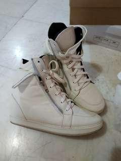 White Sneaker Wedges