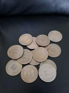 Circulated $1 coin 1971 stylised x15 pieces