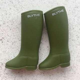 Blythe 軍綠色雨靴