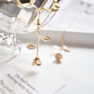 小王子金色玫瑰🌹耳針式