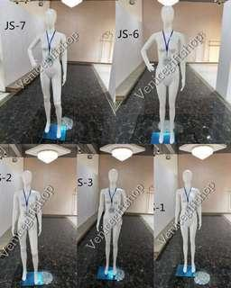 Egg head white fullbody mannequin