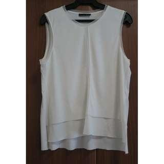 ZARA WHITE SLEEVELESS TOP
