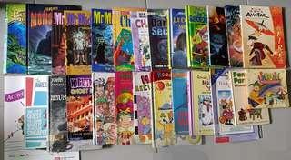 ($0.50 each) $1 buy 1 free 1 price (selling in bundle). Buy 13 free 13. Included Enid Blyton. Mr Midnight, Avatar, Mosters, Beast quest etc.. buy top free bottom