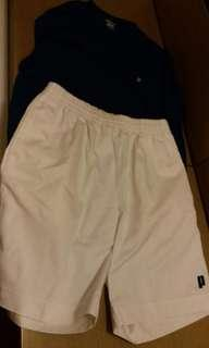 Prince tennis shorts and tee