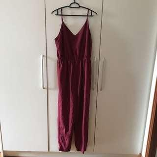 Forever 21 Maroon Jumpsuit