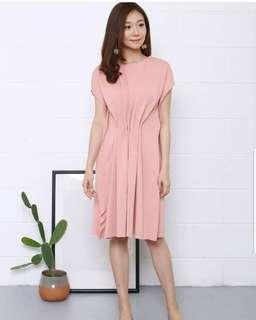 Peach Jill Dress Mat : soft scuba Freesize LD 98-114 P 93