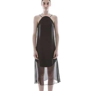 9942f01494 Collate The Label Curve Satin Slip Dress in M