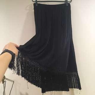 🚚 Zara開衩流蘇長裙