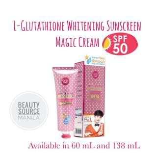 CATHY DOLL L-GLUTATHIONE MAGIC CREAM WHITENING BODY SUNSCREEN SPF50