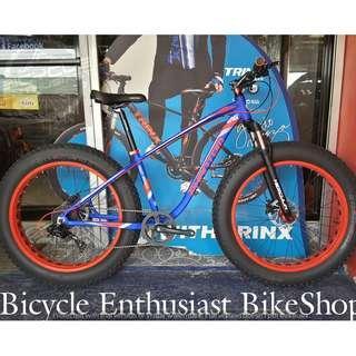 "2019 Phantom Herculin 26"" Fat Bike Fatbike Alloy Hydraulic Powered By Trinx Keysto Bicycle"